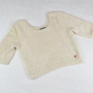 Kendall & Kylie Fluffy Cream Sweater Size M